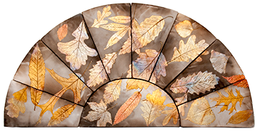 "Falling Leaves No.1 Single Arch Approximate Size: 26"" x 13"""