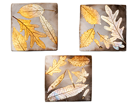 "Falling Leaves Single Tiles Approximate Size: 4 1/2"" x 4 1/2"" each"